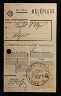 Algérie - Bougie. Cachet Bougie 3 / Constantine Sur Récépissé De Mandat.1957 - Storia Postale