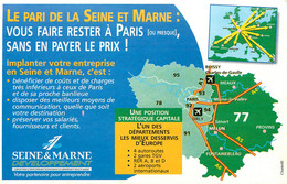 Publicités - Publicité Seine Et Marne Développement - Carte Géographique - Bon état - Advertising