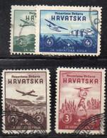 APR1290 - CROAZIA 1942 , Unificato Serie N. 50/53  Usata - Kroatien