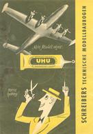 """Bühl Baden 1957 A5 Deko 4-s Reklame-Prospekt """" UHU Werbung Auf Prospekt Schreibers Modellbaubogen München """" - Advertising"""