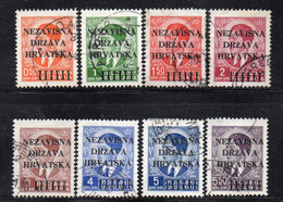APR1583 - CROAZIA 1941 , Unificato Serie N. 1/8  Usata - Kroatien