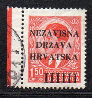APR1633 - CROAZIA 1941 , Unificato 1.50 D. N. 3  Usata - Kroatien