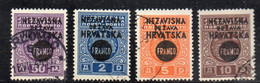 APR1761 - CROAZIA 1941 ,  Unificato Serie N. 28/31  Usata (CRT) - Kroatien