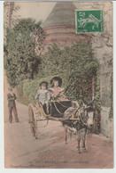 76 - Cpa - Veules Les Roses - Le Mûrier ( Attelage âne, Enfants ) - Veules Les Roses