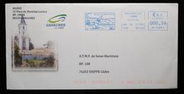 80 - Somme - Gamaches EMA De La Mairie Sur Enveloppe Illustrée 2014 - Affrancature Meccaniche Rosse (EMA)