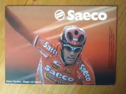 Cyclisme - Carte Publicitaire  SAECO ALLEMAGNE 2001 : CIPOLLINI - Ciclismo