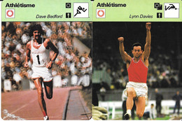 GF1902 - FICHES RENCONTRE - ARTHUR ROWE - DAVE BEDFORD - LYNN DAVIES - JOHN ET SHEILA SHERWOOD - Athletics