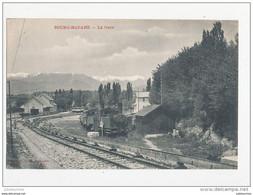 66 BOURG MADAME LA GARE  CPA BON ETAT - Stations With Trains