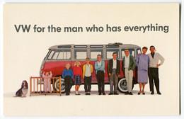 VW Bus T1 Samba,Original VW Werbekarte USA, Ungelaufen - Toerisme