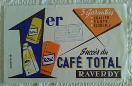 Buvard PUBLICITAIRE Succès Du Café Total REVERDY ILLUSTRATEUR Mercerie Bazar à Vandoeuvre 54 - Coffee & Tea