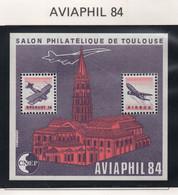 Bloc CNEP Aviaphil 1984 Toulouse - CNEP