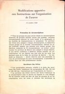 Rare 1946 Modifications Apportées Aux Instructions Sur L'organisation De L'oeuvre  Watch-Tower Bible Témoins Jéhovah - Religion