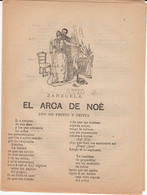 SIGLO XIX - ZARZUELA EL ARCA DE NOÉ IMP. SAN RAFAEL, 27 EN BARCELONA - Literature