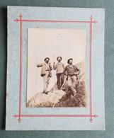 CHAMONIX  Rare Photo Août 1889 - NOS GUIDES De Montagne  - CUPELIN , PAYOT , LAMBERT - Old (before 1900)
