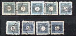 APR2404 - CROAZIA 1943 , Segnatasse Unificato Serie N. 11/19  Usata (CRT) - Kroatien