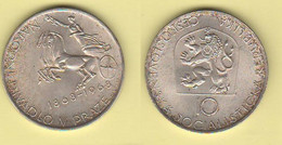 Cecoslovacchia 10 Korune 1966 Czecoslovakia 10 Corun 1966 Praue Theatre Silver Coin - Tschechoslowakei