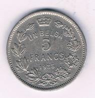 5 FRANCS 1933 FR     BELGIE /4167/ - 09. 5 Francs & 1 Belga