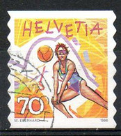 SUISSE. N°1590 Oblitéré De 1998. Beach-volley. - Volleyball