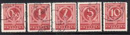 APR2408 - CROAZIA 1941 , Segnatasse Unificato Serie N. 6/10  Usata (CRT) - Kroatien