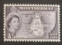"""MONTSERRAT YT 148 NEUF*MH """"ELISABETH II"""" ANNÉE 1958 - Montserrat"""