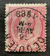 Leopold II OBP 46 - 10c Gestempeld OCQUIER - 1884-1891 Leopoldo II