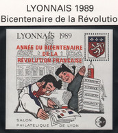 Lot Des 2 Blocs CNEP Lyonnais 1989 - Lyon, Avec Et Sans Surcharge Bicentenaire - CNEP