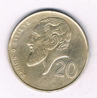 20 CENTS 1991  CYPRUS /4177/ - Cyprus