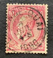 Leopold II OBP 46 - 10c Gestempeld OSTENDE QUAI - 1884-1891 Leopoldo II