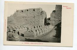 HAUTE EGYPTE 040 THEBES KARNAK  No 41 Allée Des Sphinx    - 1900  Dos Non Divisé Bergeret - Otros