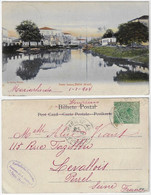 Brazil Bahia 1904 Postcard Santo Amaro Editor J. Mello Nº 30 Sent ToLevallois Perret France Stamp Republic Dawn 50 Réis - Altri