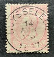 Leopold II OBP 46 - 10c Gestempeld RUYSSELEDE - 1884-1891 Leopoldo II