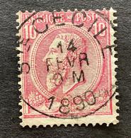 Leopold II OBP 46 - 10c Gestempeld STE CECILE - 1884-1891 Leopoldo II