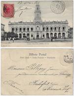 Brazil Bahia 1904 PostcardCity Hall In Salvador Editor J. Mello Nº 14 Sent To Rochefort Sur Mer France Stamp 100 Réis - Salvador De Bahia