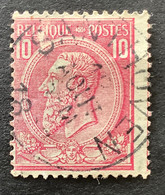 Leopold II OBP 46 - 10c Gestempeld SANTHOVEN - 1884-1891 Leopold II