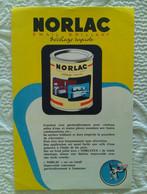 Lot De 2 Buvard PUBLICITAIRE PEINTURE NORLATEX Et NORLAC NORCOLOR ILLUSTRATEUR - Paints