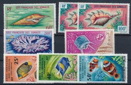EB--59: COTE DES SOMALIS: Lot Avec PA* N°31(gomme 2ème Choix)-32(2)-36-42-50-51-52 - Unused Stamps