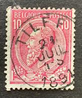 Leopold II OBP 46 - 10c Gestempeld TILFF - 1884-1891 Leopoldo II