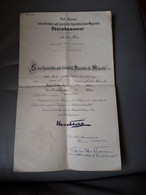 Brevet Autrichien K. U. K. - Attribution De Décorations Militaire Au Premier-Lieutenant W. Herrmann - 1917 - 1914-18