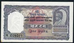 NEPAL P6 10 MOHRU 1951 Signature 3  XF-AU - Nepal