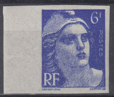 FRANCE : GANDON N° 720 NON DENTELE NEUF ** LUXE GOMME SANS CHARNIERE - SIGNE - Imperforates