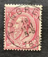 Leopold II OBP 46 - 10c Gestempeld TONGRES - 1884-1891 Leopoldo II
