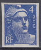 FRANCE : GANDON N° 717 NON DENTELE NEUF ** LUXE GOMME SANS CHARNIERE - SIGNE - Imperforates