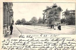 Liège - La Rue Louvrex Et Le Jardin Botanique (animée 1905) - Liège