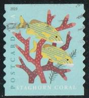 Etats-Unis 2019 Yv. N°5198 - Corail Corne De Cerf - Oblitéré - Usados