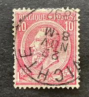 Leopold II OBP 46 - 10c Gestempeld VICHTE - 1884-1891 Leopoldo II