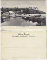 Brazil Bahia 1910s Postcard Rio Vermelho Red River Beach In Salvador Editor J. Mello Nº 28 Unused - Salvador De Bahia
