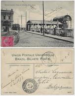 Brazil Bahia 1912 PostcardLacerda Elevator And Praça Do Conselho In Salvador Editor J. Mello Sent To Courcelles Belgium - Salvador De Bahia