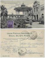 Brazil Bahia 1912 PostcardJardim Da Vila Operária In Salvador Editor J. Mello Sent ToCourcelles Belgúm3 Stamp Removed - Salvador De Bahia