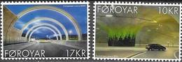 FAROES, 2021, MNH,TUNNELS, CARS, EYSTUROY TUNNEL, 2v - Coches