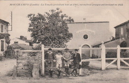 CPA (85) MOUCHAMPS Le Temple Protestant Bâti En 1803 Reconstruit En 1833 Religion Monument Religieux  2 Scans - Andere Gemeenten